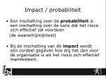impact probabiliteit1
