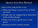 quotes from poor richard
