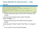 meta element to aid browser web server