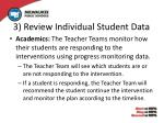 3 review individual student data