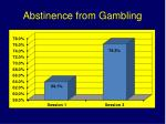 abstinence from gambling