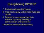 strengthening cpgtsp1