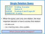 single relation query