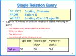 single relation query1