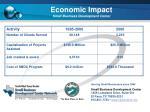 economic impact small business development center