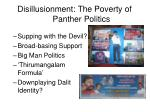 disillusionment the poverty of panther politics