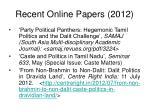 recent online papers 2012