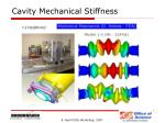 cavity mechanical stiffness