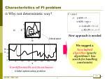 characteristics of fi problem