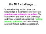 the mi 1 challenge