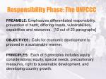 responsibility phase the unfccc