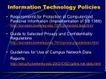 information technology policies