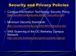 security and privacy policies