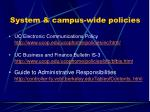 system campus wide policies