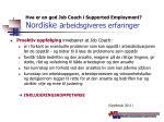 hva er en god job coach i supported employment nordiske a rbeidsgiveres erfaringer