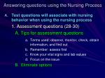 answering questions using the nursing process