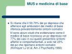 mus e medicina di base