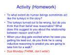 activity homework