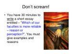 don t scream