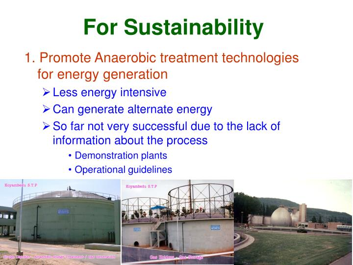 For Sustainability