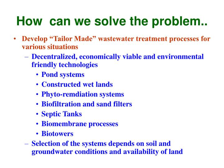 How  can we solve the problem..