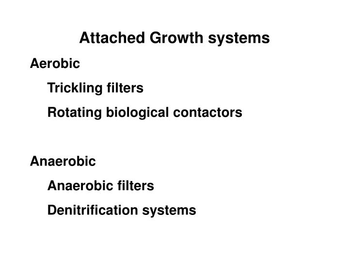 Attached Growth systems