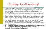 exchange rate pass through