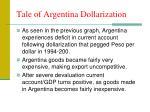 tale of argentina dollarization