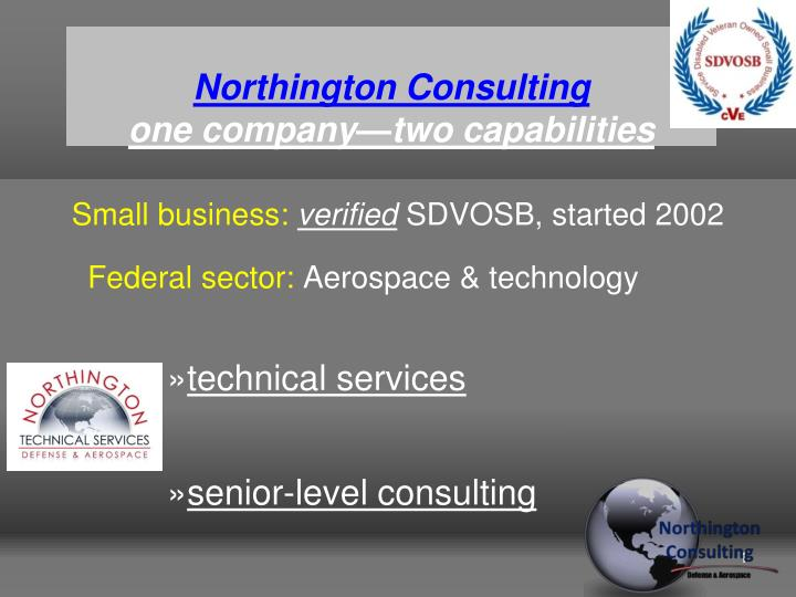 northington consulting one company two capabilities n.