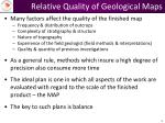 relative quality of geological maps