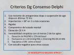 criterios dg consenso delphi
