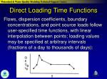 direct loading time functions