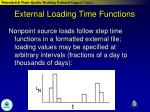 external loading time functions