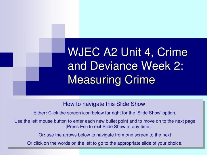 measuring crime 2 essay Crime probability of each crime being included in the official crime statistics probability of crime being noticed probability of crime being reported probability of crime being recorded by the police reporting rates based on 2007/2008 british crime survey (victim survey) 1 car theft 2 bank robbery 3 vandalism 4 shoplifting 5 common assault 6.
