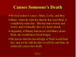 causes someone s death