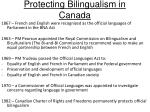 protecting bilingualism in canada