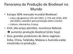 panorama da produ o de biodiesel no mundo