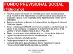fondo previsional social fiduciario