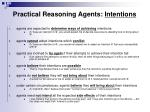 practical reasoning agents intentions