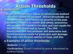 action thresholds