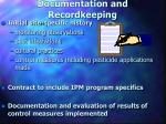 documentation and recordkeeping