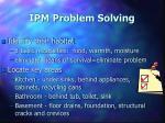 ipm problem solving