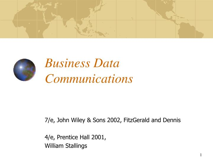 business data communications n.