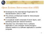 open systems interconnection osi
