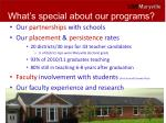 what s special about our programs