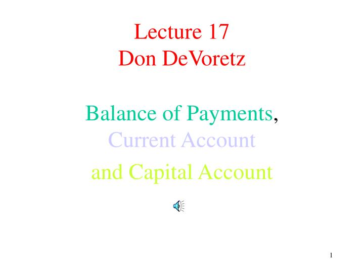 lecture 17 don devoretz n.
