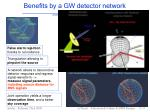 benefits by a gw detector network