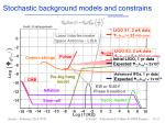 stochastic background models and constrains