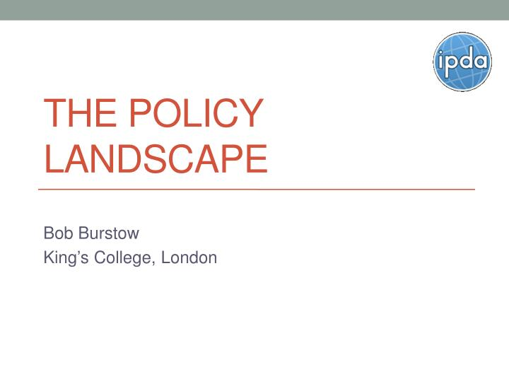 the policy landscape n.