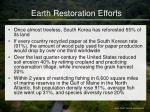 earth restoration efforts